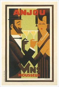 Anjou Vins Mousseux Fine Art Giclee Print