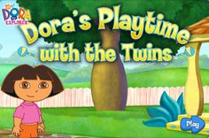 Dora Playtime With The Twins game online