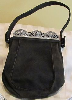 Vintage Leather Purse Suede Leather Purse by classiccollector, $75.00