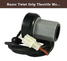 Razor Twist Grip Throttle Model: 13111612043, Toys & Games for Kids & Child. Razor Twist Grip Throttle for the following models: E100, V10+ E125, V10+ E150, V1+ E175, V18+ E200, V24+ E300, V20+ eSpark, V1+ Pocket Mod, V13+ (including Bistro, Bella, Vapor, Mint, & Betty, etc.) E Trikke, V1+ **Note: Model versions can be determined based on your 8-digit product ID code. The product ID code can be found on the battery cover and/or on the bottom of the frame. The last two digits are the…