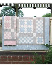 Ritzy Bitsy Babies Quilt Pattern from www.AnniesCatalog.com --- Whether the new bundle of joy is a boy or girl, this pattern comes in two color options/designs so you can customize it!