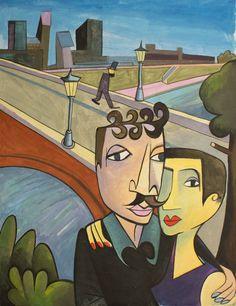 Jim Avignon OT, 2014, 154 x 123 cm, Acryl auf Papier