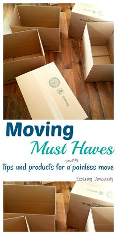 Moving Must Haves - tips and products for a painless move
