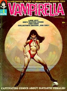 Warren magazine's Vampirella #1with a Frank Frazetta cover