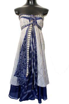 "Plus Size Magic Wrap Skirts - 36"" Long Length Plus Size Silk Wrap Magic Skirts form Enwrapture Vintage"