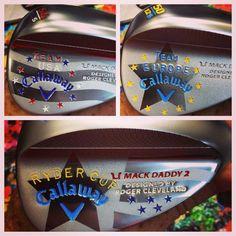 "August 12, 2014: ""Fresh paint. Callaway Golf #RyderCup2014,"" said Callaway clubmaker Anthony Taranto."