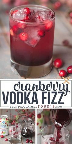 Fruity, tart, and sparkling cocktails are always so refreshing and this Cranberry Fizz, spiked with vodka, is an easy drink you're sure to love. #cranberry #vodka #drink #cocktail #recipe #easy #sparkling Christmas Drinks, Holiday Drinks, Party Drinks, Cocktail Drinks, Fun Drinks, Yummy Drinks, Holiday Recipes, Easy Vodka Drinks, Juicing
