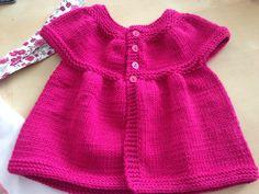 Tuto tricot gilet fille - Laine et tricot