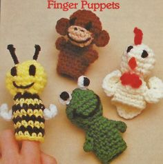 TRAIN MAGNET Set - Finger Puppets - CROCHET