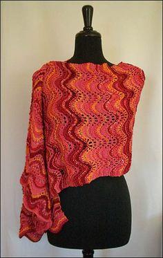 Magic Waves Shawl One By Andra Asars - Free Knitted Pattern - (andra-asars)