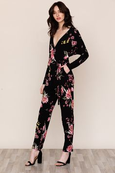 0266534f5a0 Comfort meets feminine style in our Freefall Floral Jersey Jumpsuit.
