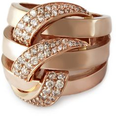 Effy Collection Diamond Ring In 14 Kt. Rose Gold