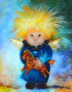 """Студия творческого развития """"Воздушные пузыри"""" Owl Photos, Shell Crafts, Felt Art, Handmade Design, Christmas Angels, Cherub, Love Art, Needle Felting, Wool Felt"""