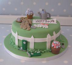 Garden themed cake for Don's Mum's birthday Garden Theme Cake, Garden Birthday Cake, Birthday Cake With Flowers, Garden Cakes, Flower Birthday, 70th Birthday Cake For Women, Grandma Birthday Cakes, 90th Birthday Cakes, Retirement Cakes