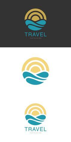 Wave logo template, travel logo Wave Quotes, Boat Icon, Sea Logo, Wave Drawing, Waves Logo, Typo Logo, Shirt Print Design, Marca Personal, Creative Logo