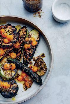 Grilled Summer Squash, Za'atar & Cherry Tomato Confit recipe from the new Gjelina cookbook