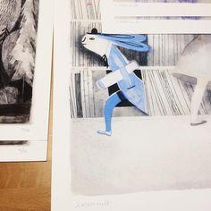Isabelle Arsenault Sign Printing, New Sign, Ink, Art Prints, Paper, Instagram, Pencil, Art Impressions, India Ink