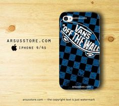 Vans Off The Wall Blue Pattern iPhone 4 4s Case | Dalmanaz - Accessories on ArtFire