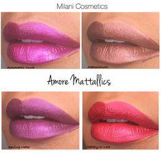 Milani cosmetics. Amore Mattallics