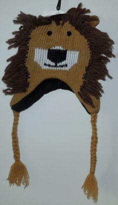 NWT Kids Knit Critter Hat  LION  braided HALLOWEEN  #RuggedWear