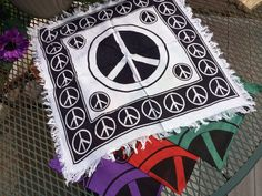 Peace Sign 18-inch Altar Cloth Scarf by OpalMoonTreasures on Etsy