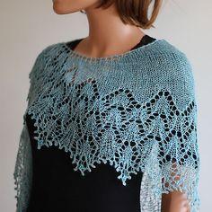 Ravelry: Heaven Scent pattern by Boo Knits blue shawl Knitting Designs, Knitting Patterns Free, Knitting Projects, Free Pattern, Shawl Patterns, Lace Patterns, Crochet Patterns, Knit Or Crochet, Crochet Shawl