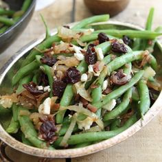This Sweet & Salty Green Bean Cherry Salad is filled with crispy ham and feta and the perfect easy summer side dish.