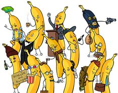 """Check out new work on my @Behance portfolio: """"Banana People"""" https://www.behance.net/gallery/62305041/Banana-Nation"""