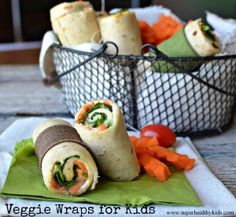 Veggie Lunch Wraps  | Healthy Ideas for Kids
