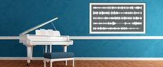 Record a sound; get a print of a soundwave ... could DIY this at home with home audio software... like the idea.