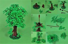 My tree - tutorial Lego For Kids, All Lego, Lego Lego, Lego Games, Lego Moc, Lego Tree, Lego Craft, Lego Construction, Lego Trains