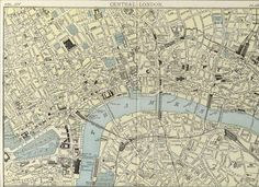 Map of central London, 1900