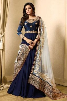Looking to buy Anarkali online? ✓ Buy the latest designer Anarkali suits at Lashkaraa, with a variety of long Anarkali suits, party wear & Anarkali dresses! Abaya Fashion, Fashion Mode, Indian Fashion, Fashion Dresses, Style Fashion, Fashion Trends, Indian Gowns, Pakistani Dresses, Indian Outfits