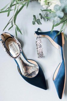 wedding shoes comfortable Flat Wedding Shoes For Lovers Of Comfort And Style flat wedding shoes flats dark blue with stones badgley mischka Converse Wedding Shoes, Wedge Wedding Shoes, Wedding Shoes Bride, Wedding Boots, Bridal Flats, Wedding Dresses, Bride Shoes Flats, Women's Shoes, Blue Bridal Shoes