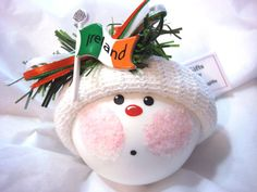 Hand painted Handmade white hat Orange, white, green ribbons Irish flag Finished size approximately 3 1/2  to 4  Please leave NAME and YEAR information in the NOTE FROM BUYER section of the order form at checkout. PERSONALIZING is either hand written on the bottom of the ornament or with a handmade tag on hat. Ornament comes with a RIBBON for hanging & a GIFT BOX.  An ORNAMENT STAND is available for purchase: www.etsy.com/listing/130967402  Additional COUNTRY/VACATION ornaments…
