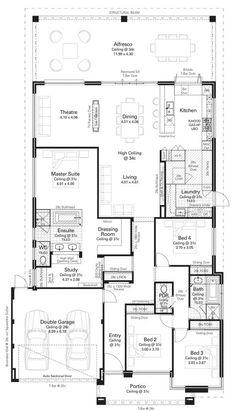 Aurora Display Floorplan copy Like the kitchen design with the outdoor opening New House Plans, Dream House Plans, House Floor Plans, My Dream Home, Home Design Floor Plans, Plan Design, Kitchen Floor Plans, Building Plans, Building A House