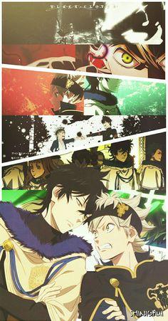 Asta and yuno Trendy Wallpaper, Kawaii Wallpaper, Black Wallpaper, Black Clover Asta, Black Clover Anime, Otaku Anime, Manga Anime, Anime Art, Leorio Hxh