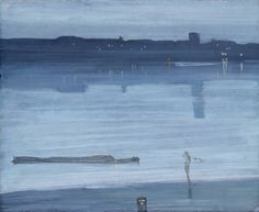 James Whistler - Nocturne: Blue and Silver - Chelsea, 1871, oil on wood