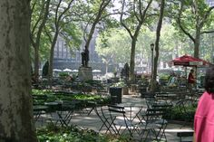 New York City Bryant Park- One of my favorite places to relax.