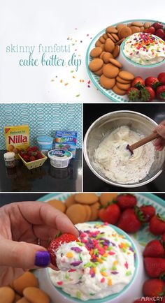 Skinny Funfetti Cake Batter Dip | Camp Makery