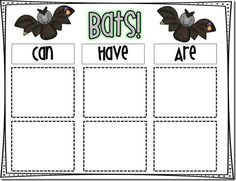 Love this way to organize/summarize information. CanHaveAre graphic organizers.