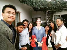 Thanking Her Excellency Alaina B. Teplitz US Ambassador to Nepal for inviting us to her residence to view today's US Presidential Election.  #US #Election2016 #USYC