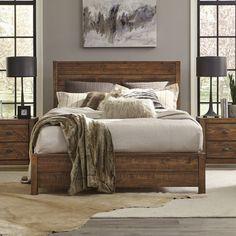 Upholstered Platform Bed, Wood Platform Bed, Home Decor Bedroom, Wood Bedroom Sets, Bedroom Ideas, Solid Wood Bedroom Furniture, Solid Wood Beds, Rustic Master Bedroom, Rustic Bedrooms
