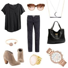 Cute and casual outfit idea - jewelry all available at Cornell's Jewelers! Stephanie Kantis, Michael Kors