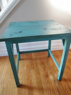 How to weather a piece of furniture... im doing this this week with one of my tables! already have the paint!!