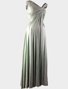 Celadon Silk Jersey Dress- worn by Jacqueline Kennedy, 1961-designed by Oleg Cassini