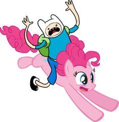 Adventure Time plus my favorite pony! Adventure Time Crossover, Adventure Time Cakes, Mlp, Lumpy Space Princess, My Lil Pony, Finn The Human, Jake The Dogs, Little Poney, My Little Pony Friendship