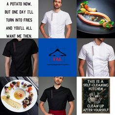 F&L Catering Suppliers where the chef is always right. The number one place for unique chef attire with attitude. High quality and delivered straight to your door. Long sleeve, short sleeve chef jacket. Mens, Womens, & Unisex Chef jackets, Chef trousers, chef hats & aprons.New fashion chef jackets for best chefs in 2020. Summer Sale Up To 30%Off Sgin Up Today Get 20% Off Chef Hats, Catering Equipment, Food Stall, Best Chef, How To Get Rich, Summer Sale, Fine Dining, Aprons, Street Food