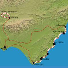 Randonnée Cabo de Gata, Tabernas - Désert d'Espagne - La Balaguère
