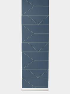 Lines Wallpaper - Dark Blue Lines Wallpaper, Modern Wallpaper, Print Wallpaper, Dark Blue Living Room, Decorative Lines, Design Language, Old Things, Art Deco, Pattern